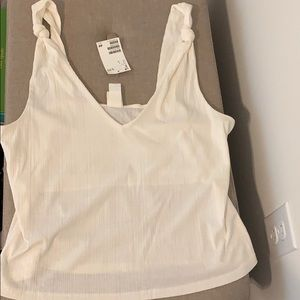 NWT H&M ribbed tank top w/ knot detail